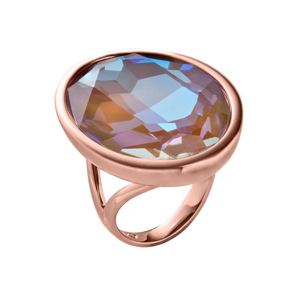 IMPÉRIALE Ring, rosè vergoldet, multi-braun