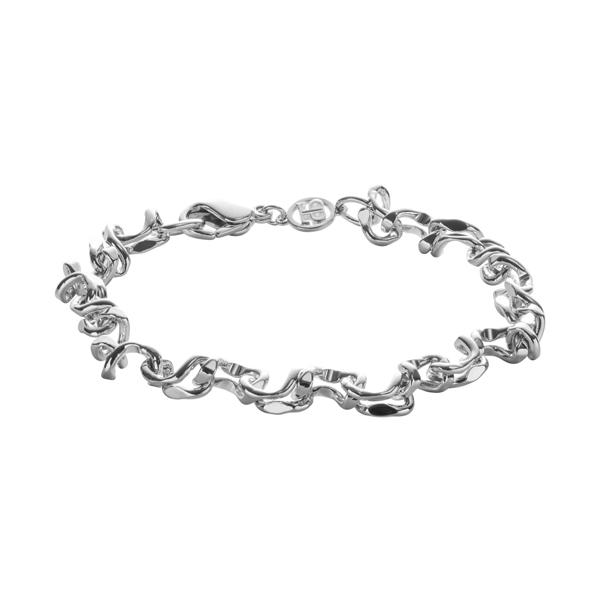 CRUSH Armband, rhodiniert