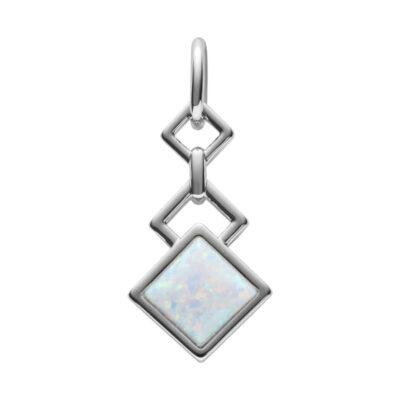 TRINITY Anhänger, rhodiniert, opal farbig