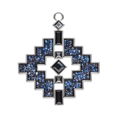 LIAISON Anhänger, rhodiniert, dunkelblau, schwarz