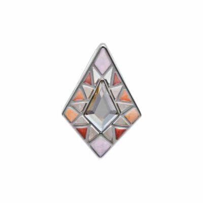 DELIGHT Anhänger, rhodiniert, multicolor, hell grau farbig