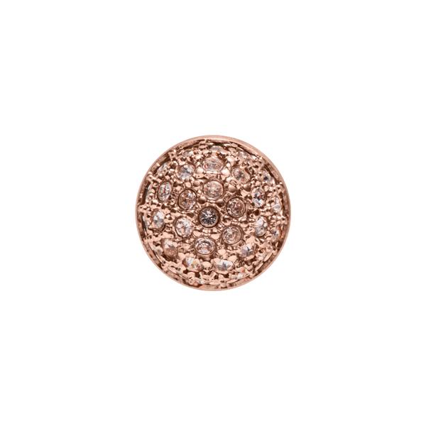 PRALINÉ Motiv, rosè vergoldet, kristall-farbig