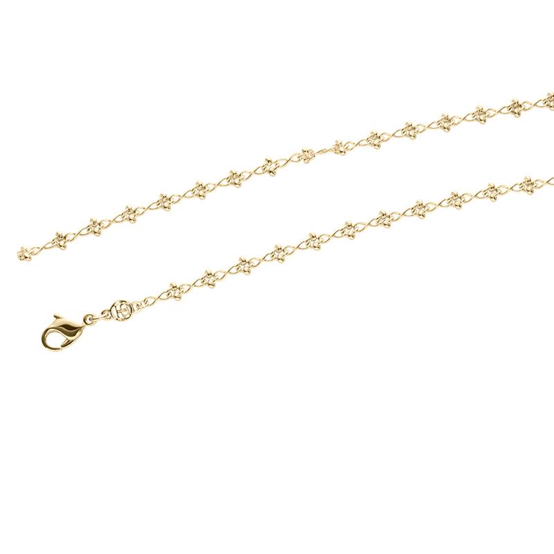 IRIS Halskette, vergoldet