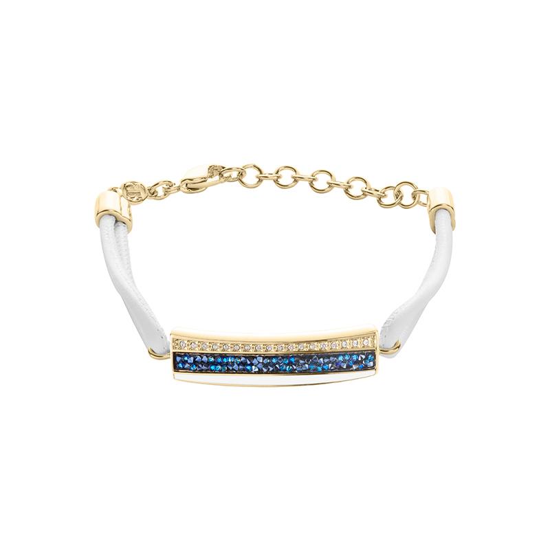 EUPHORIA Armband, vergoldet, weiß, dunkelblau, kristall-farbig