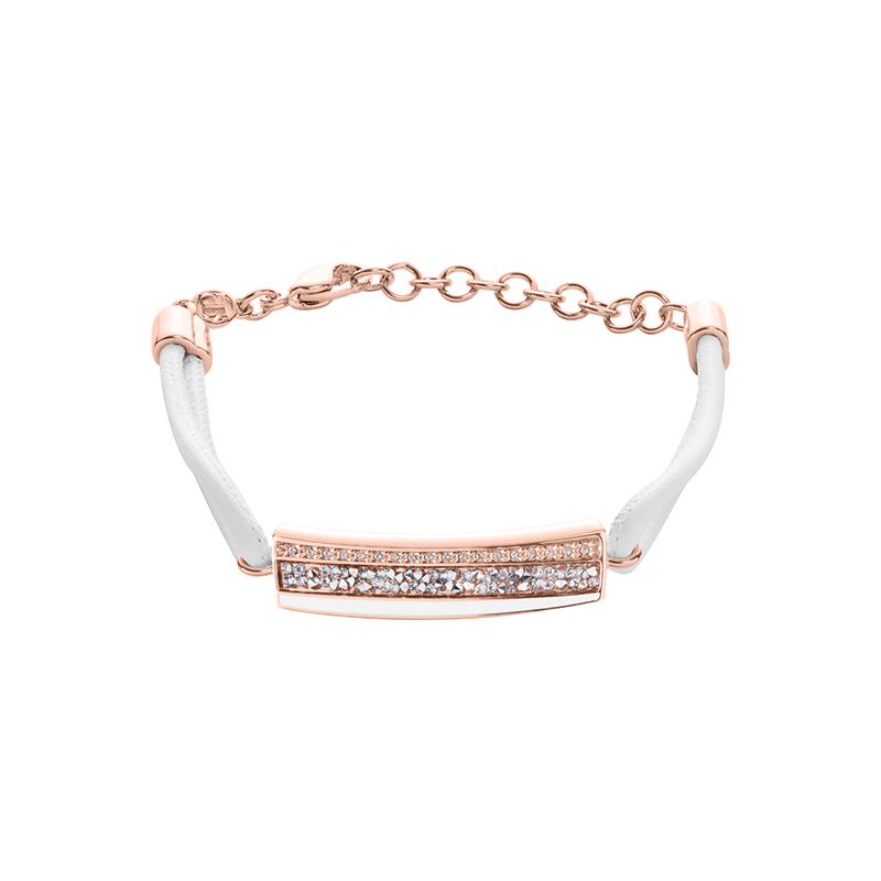 EUPHORIA Armband, rosè vergoldet, weiß, metallic silber, kristall-farbig