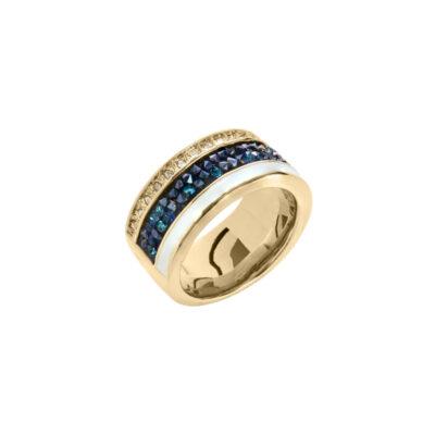 EUPHORIA Ring, vergoldet, weiß