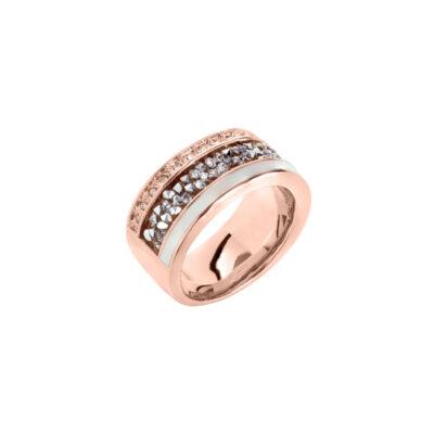 EUPHORIA Ring, rosè vergoldet, weiß