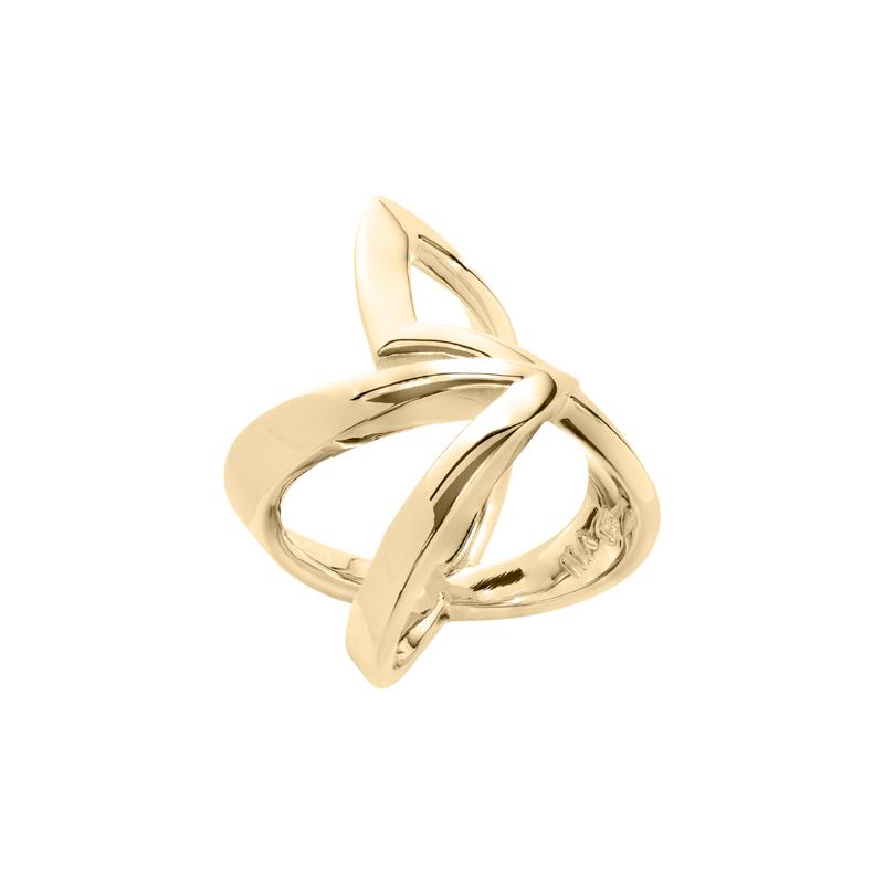 STATEMENT Ring, vergoldet,