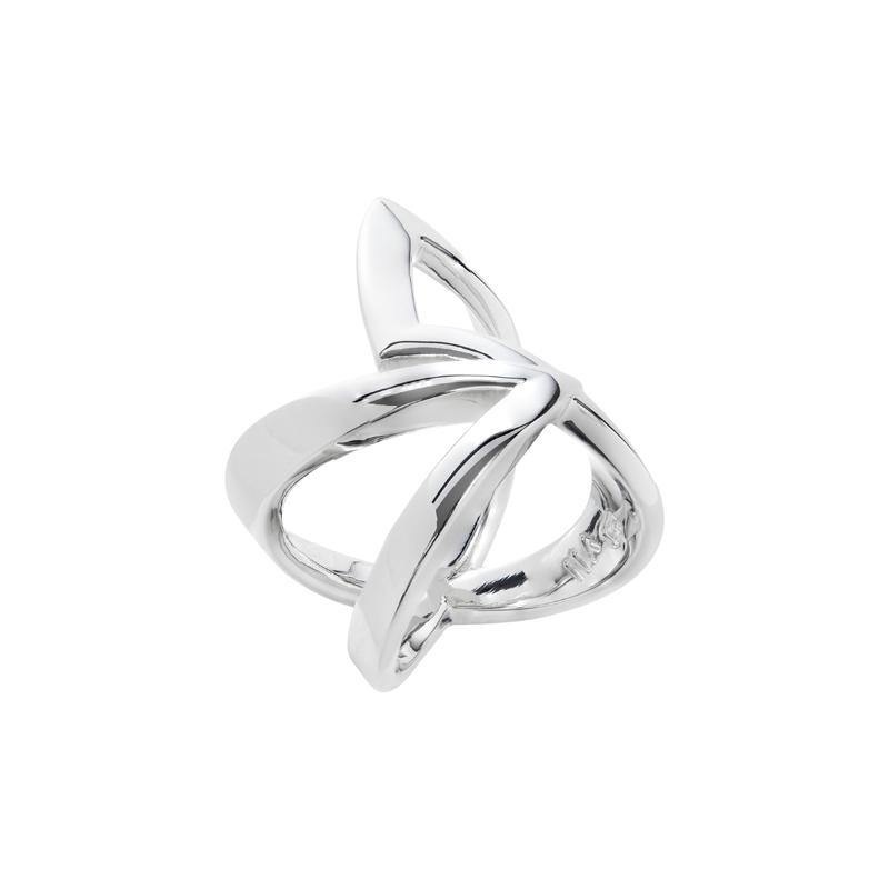 STATEMENT Ring, rhodiniert,