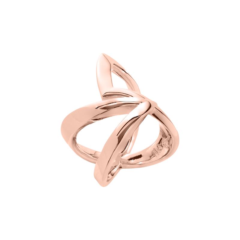STATEMENT Ring, rosè vergoldet,