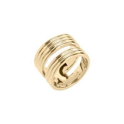 PURE LINES Ring, vergoldet