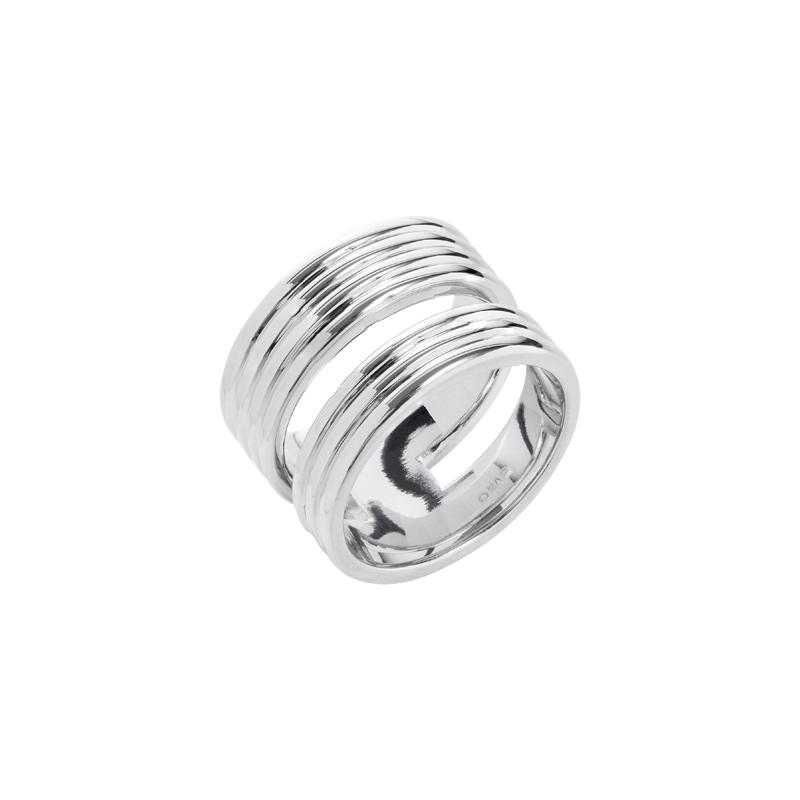 PURE LINES Ring, rhodiniert