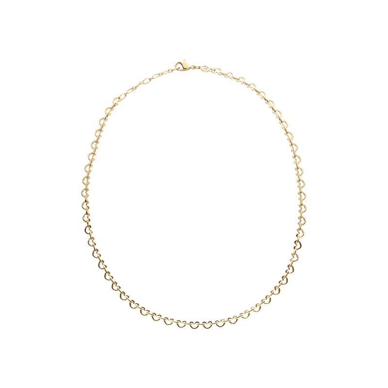 LOVE&KISSES Halskette, vergoldet