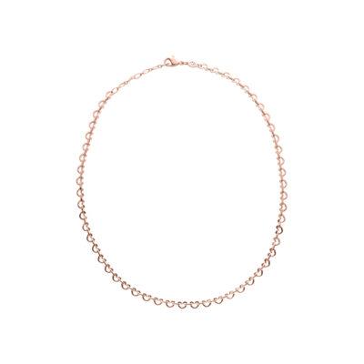 LOVE&KISSES Halskette, rosè vergoldet