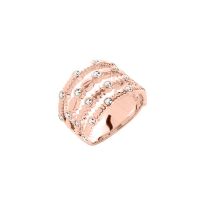 AURA Ring, rosè vergoldet, multicolor