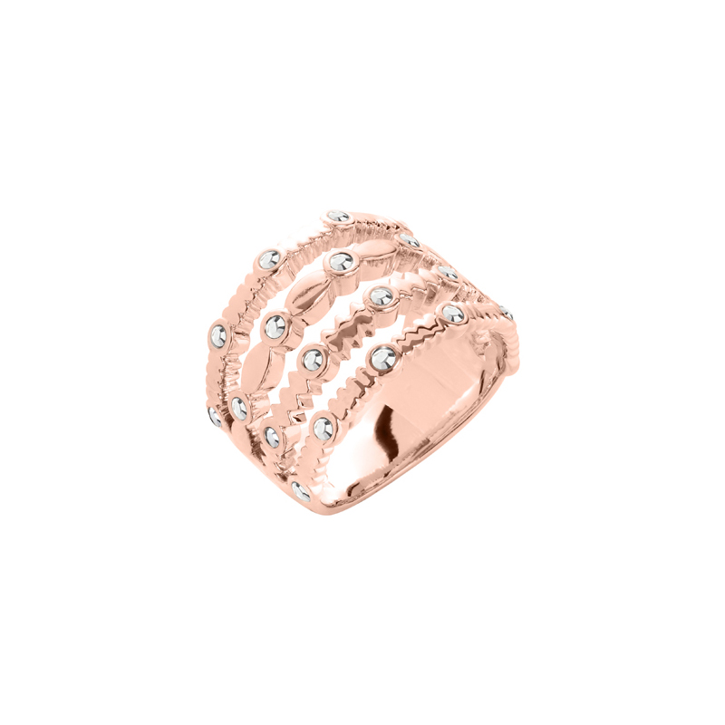 AURA Ring, rosè vergoldet, multicolor
