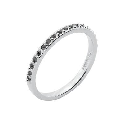 SUGAR Ring, rhodiniert, metallic grau