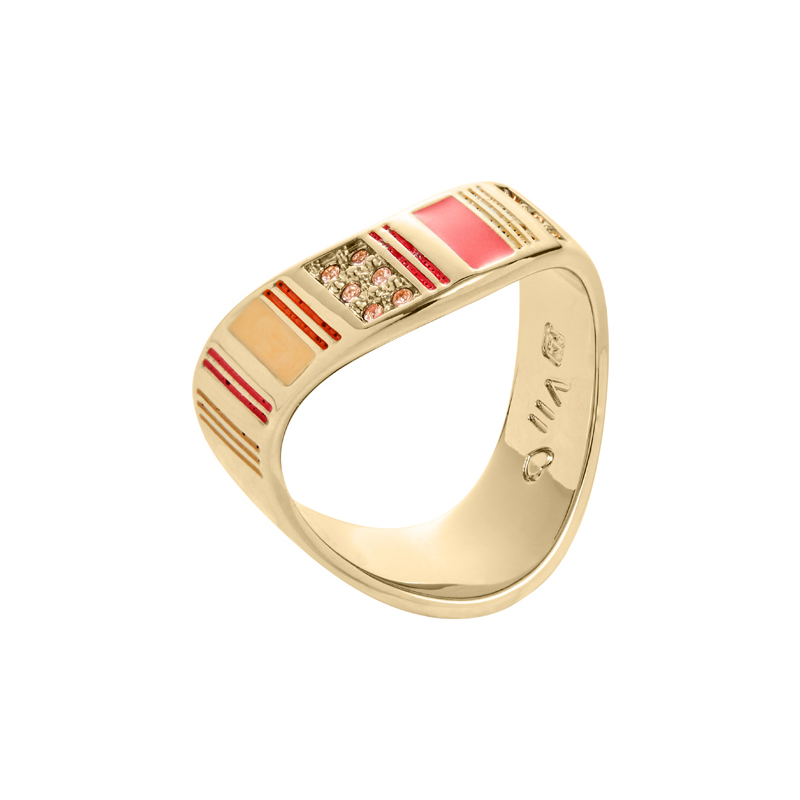 ARIZONA Ring, vergoldet, multicolor