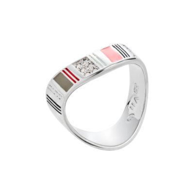 ARIZONA Ring, rhodiniert, multicolor