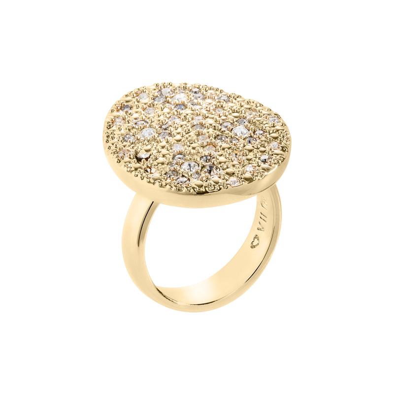IRBIS Ring, vergoldet, multicolor