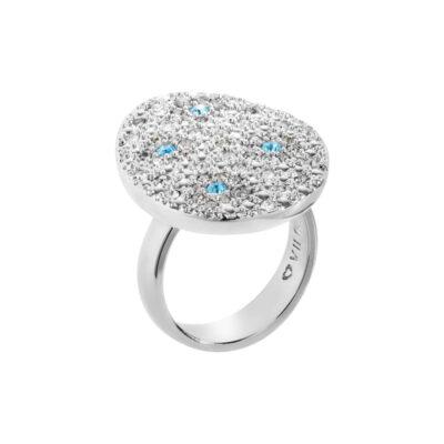 IRBIS Ring, rhodiniert, multicolor