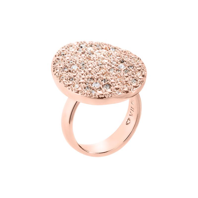 IRBIS Ring, rosè vergoldet, multicolor