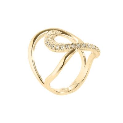 TALIA Ring, vergoldet, gold farbig