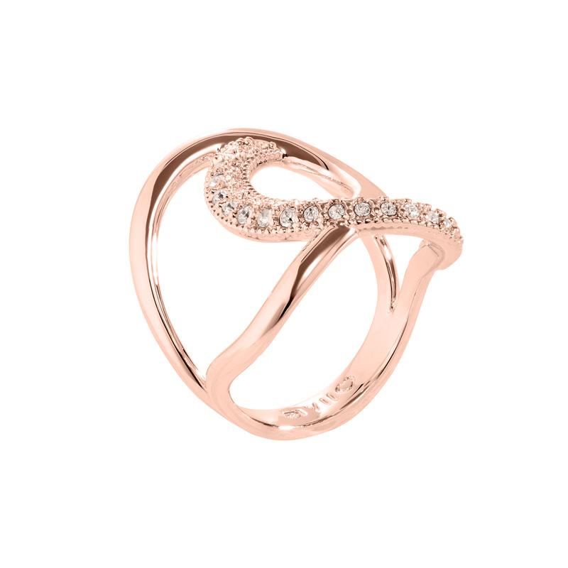 TALIA Ring, rosè vergoldet, Nude