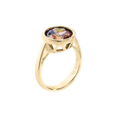 LUMINOUS Ring, vergoldet, multicolor
