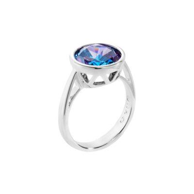 LUMINOUS Ring, rhodiniert, multicolor