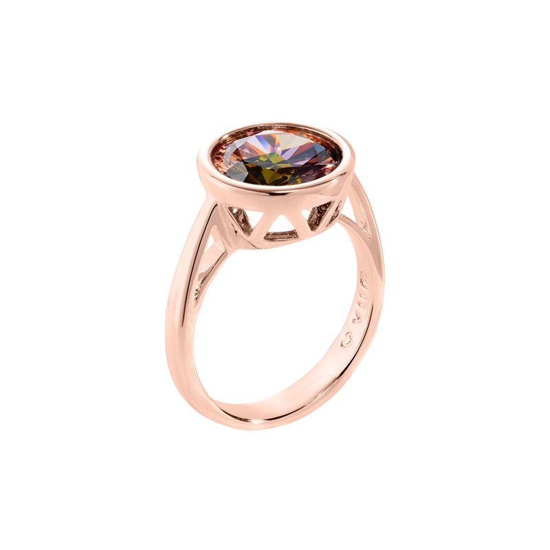 LUMINOUS Ring, rosè vergoldet, multicolor