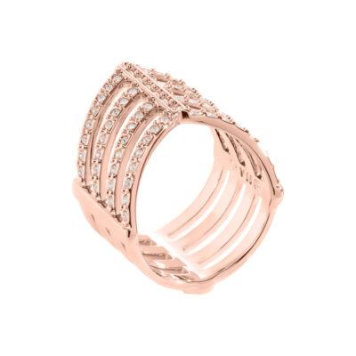 AMAYA Ring, rosè vergoldet, kristall-farbig