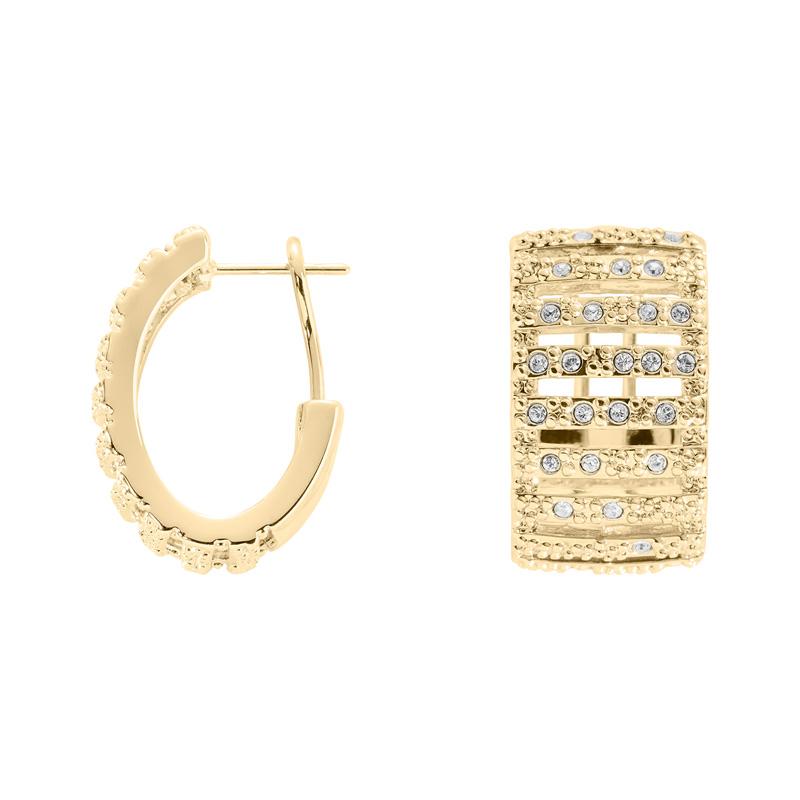 GRACE Ring, vergoldet, kristall-farbig