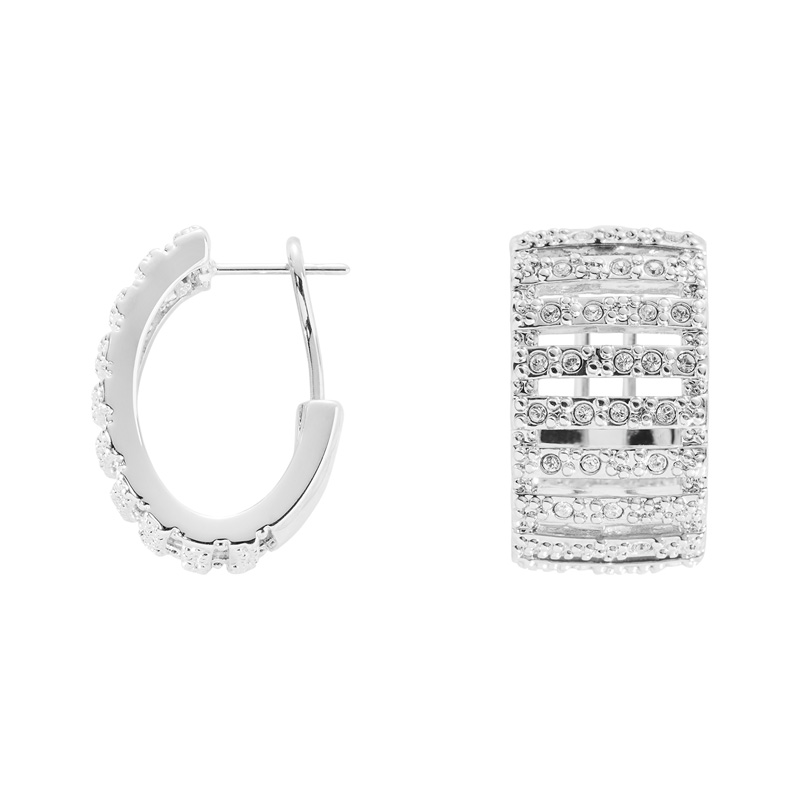 GRACE Ring, rhodiniert, kristall-farbig