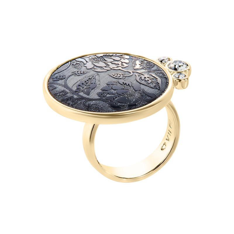 ODINA Ring, vergoldet, multi-grau, dunkelgrau